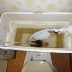 洋式トイレのタンクから少しずつ水が便器に流れている場合の工事